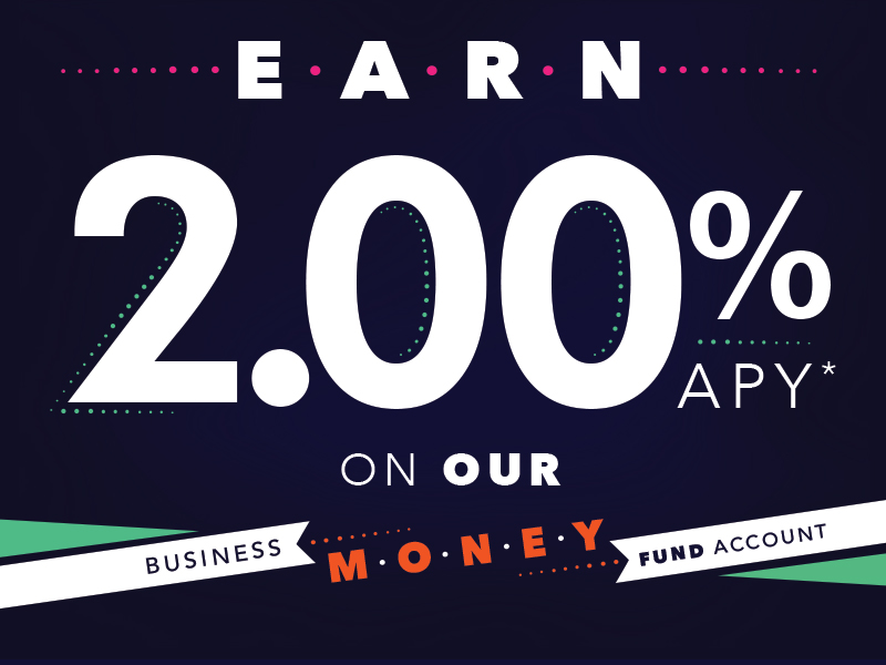 earn 200 percent apy on our business money fund account