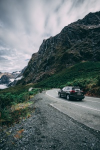 Car in the mountains