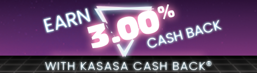 earn 3.00 percent cash back with kasasa bash back