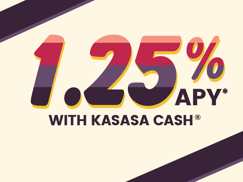 1.25 percent with kasasa cash