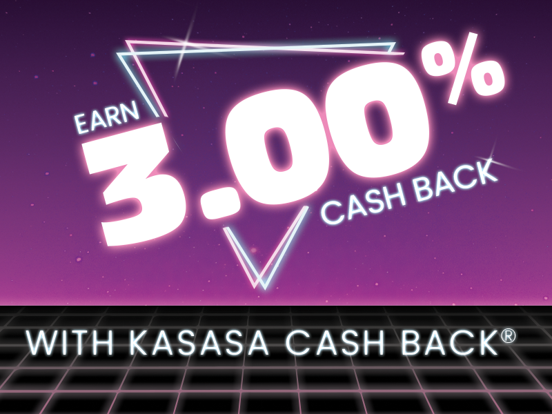 earn 3 percent cash back with kasasa cash back